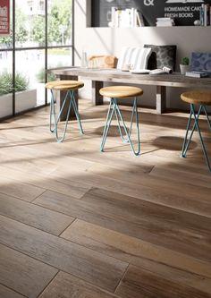 Treverkmade: Living room tiles: your home decor inspiration - Marazzi Parquet Pvc, Wood Tile Floors, Wood Look Tile, Parquet Flooring, Stone Flooring, Living Room Flooring, Kitchen Flooring, Best Flooring, Home Decor Inspiration