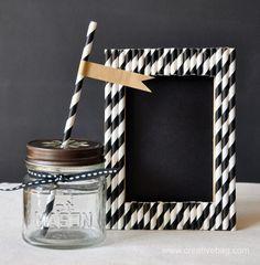 10 ideias DIY para decorar com canudos de papel