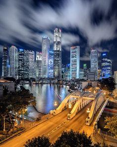 travelingcolors:  Singapore Skyline (by Jonathan Danker)