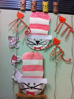 Cat in the hat crafts ideas by Emmazart