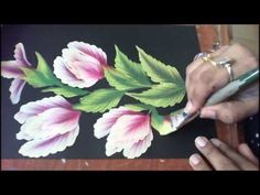 One Stroke Painting- Floral Composition - YouTube