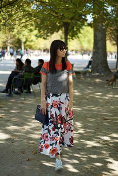 Dia de gravação e look colorido em Paris | Danielle Noce