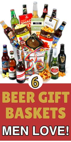 send him a delicious beer gift basketperfect beer lovers gift for fathers day birthday or christmas