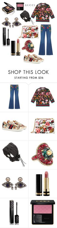 """""""Presenting the Gucci Garden Exclusive Collection: Contest Entry- Make It Look Easy"""" by briannaduffin ❤ liked on Polyvore featuring Gucci and gucci"""