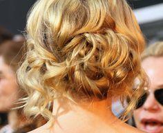 A loose cascading wavy bun like Jennifer Morrison's    Read More http://www.glamour.com/weddings/blogs/save-the-date/2012/02/tk-new-celebrity-inspired-updo.html#ixzz22p4qicGZ