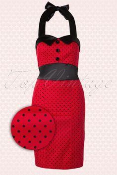 Hearts and Roses Red and Black Polkadot Pencil Dress 101 27 14130 20140820 0007WAV