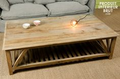 1000 ideas about table basse bois on pinterest coffee - Table basse bois brut design ...