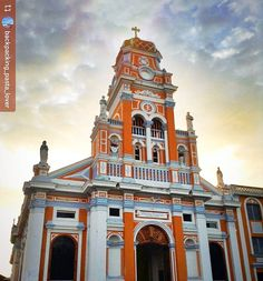 http://OkGranada.com #Follow @backpacking_pasta_lover: #Xalteva church at #sunset #Granada #Nicaragua #ILoveGranada #AmoGranada #Travel #CentralAmerica #GranadaNicaragua #architecture