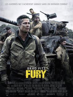 Fury est un film de David Ayer avec Brad Pitt, Shia LaBeouf. Synopsis : Avril 1945. Les Alliés mènent leur ultime offensive en Europe. À bord d'un tank Sherman, le sergent Wardaddy et ses quatre hommes s'engagent dans une