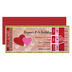 Valentine's Valentine Party Admit One VIP Ticket Card - bridal shower gifts ideas wedding bride