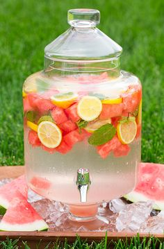 Watermelon Lemon Mint Flavored Water | Cooking Classy