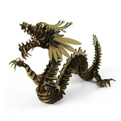 3D Dragon Puzzle Model Craft for Kids and Adults DIY Cool Unique Birthday Presents Gifts Creative Toys Nice Home Room Desk Decoration, more detail from Amazon