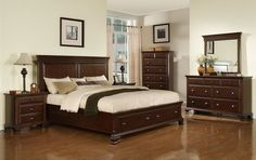 Canton Bedroom Set with Storage Bed