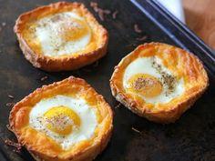 Tostadas con Huevo y Queso al Horno - QueRicaVida.com