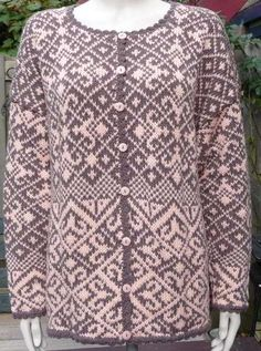 WOW. This have must taken forever. So pretty, though! >>Knitting pattern for Norwegian cardigan