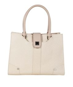 Danielle Nicole Remi Tote in Ivory | eLUXE