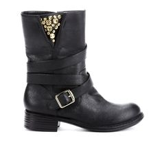 {the Betsy boot} motorcycle style w/ gold studded detail