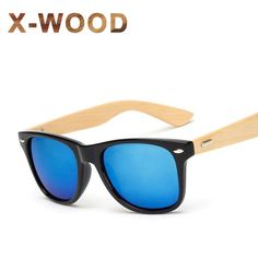 Cheap wooden sunglasses men, Buy Quality wood sunglasses directly from China bamboo wood sunglasses Suppliers: X-WOOD Fashion Bamboo Designer Sunglasses Men Women Brand Designer Male Goggles Gold Mirror Sun Glasses UV400 Shades Nerd Style