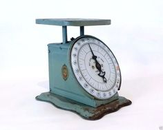 Pelouze Chicago Antique Family Scale Kitchen Green 24lb Early 1900s Works Primit | eBay