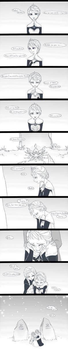 Elsa hecha de menos a sus padres
