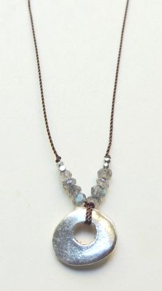 Mykonos Necklace with Faceted Labradorite Handmade Minimalist Boho Chic Jewelry by Flow Designs