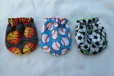 3 Newborn Scratch Mittens Newborn gloves Newborn gift by AngieMade