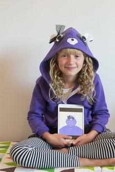 Original, customized kid's hoodie with tulle skirt and handcrafted features! #momo #monsters #kidstyleDIY #parentapproved #hoodies #kidscreate #backtoschool