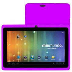 """MioMundo Tablet Android Q07 con Doble Cámara. Allwinner A13 Cortex A8 de 1,2Ghz. RAM 512Mb. ROM 4Gb. Pantalla 7"""" Capacitiva Multitáctil. Resolución 800x 480. Android 4.0. ¡REGALO!: Funda de protección para niños en color morado y puntero. B00EZNEWYS - http://www.comprartabletas.es/miomundo-tablet-android-q07-con-doble-camara-allwinner-a13-cortex-a8-de-12ghz-ram-512mb-rom-4gb-pantalla-7-capacitiva-multitactil-resolucion-800x-480-android-4-0-regalo-funda-de-prot-3.html"""
