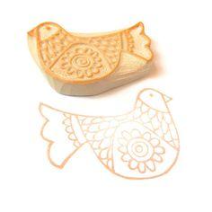 SALE Scandinavian Bird DIY Gift Wrap Stamp  Cling by creatiate