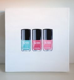 Chanel Nail Polishes - Original Acrylic Painting - Cocostyle Studio