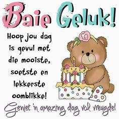 Birthday Messages, Happy Birthday Wishes, Birthday Cards, Birthday Pictures, Birthday Images, Afrikaans, Gift Tags, Birthdays, Paper Crafts