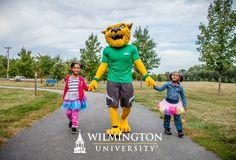 Wiley D. Wildcat & some little wildcats. Homecoming 2015 #WilmUhomecoming
