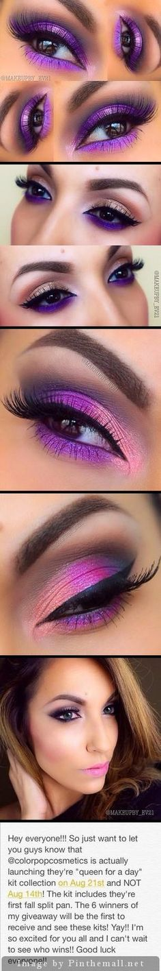 Makeup by EV21 on ink361. Beautiful purples with metallic touches.