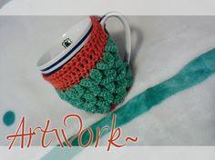Visit: https://www.etsy.com/listing/214919310/crochet-cup-cozy-gehakelte-kaffee-tasse