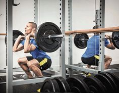 athlete performing a front squat exercise