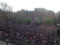 Crowd at Manchester United championship parade, farewell to Fergie #mufc