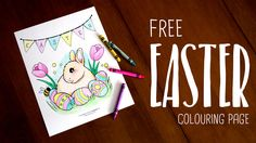 FREE Easter colouring page!! Fun activities for kids or adults  (free for personal use only)  www.venacarr.com