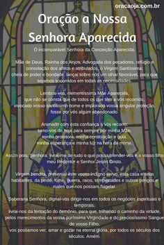 Oração a Nossa Senhora Aparecida para alcançar uma graça #nossasenhoraaparecida #oração