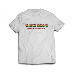 Handspun Records Make Music Not War T-Shirts and Hoodies