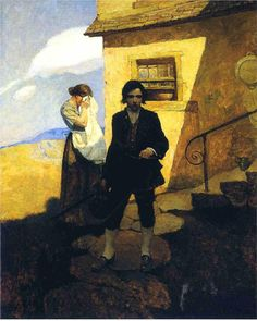 """""""Jim Hawkins Leaves Home,"""" by Andrew Wyeth: A painting for """"Treasure Island,"""" by Robert Louis Stevenson"""
