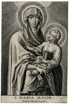 S. Maria Maior A 17th century Flemish engraving of the icon of the Salus Populi Romani (Protectress of the Roman People) in the basilica of Santa Maria Maggiore, Rome.