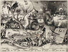 """Pieter van der Heyden (1530–1572) nach Pieter Bruegel d. Ä. (1525–1569): Ira – Der Zorn, aus der Serie """"Die sieben Todsünden"""""""