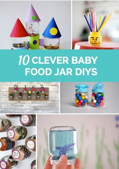 Clever ways to turn baby food jars into fun crafts or organizational tools for the home.