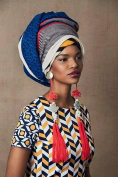 One of my earliest posts here on Isioma Style Report was on African Turban (read here). To many of us Africans, a turban is the defining piece of accessory we wear simply because it exudes regal el… African Inspired Fashion, Africa Fashion, Ethnic Fashion, Fashion Textiles, South African Fashion, South African Clothing, Modern Fashion, Trendy Fashion, African Beauty