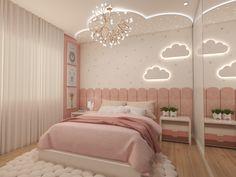 Pink Bedroom Design, Teen Bedroom Designs, Home Room Design, Kids Room Design, Bedroom Workspace, Room Ideas Bedroom, Teen Room Decor, Bedroom Decor, Twin Girl Bedrooms