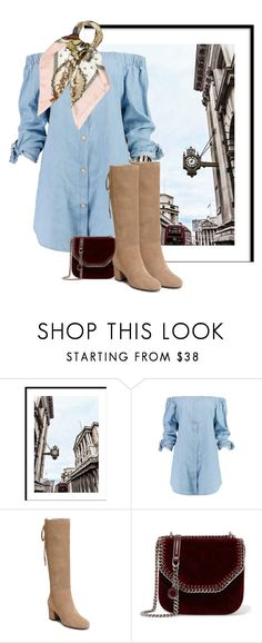 """""""Street style"""" by janemichaud-ipod ❤ liked on Polyvore featuring Boohoo, Aerosoles, STELLA McCARTNEY and Hermès"""