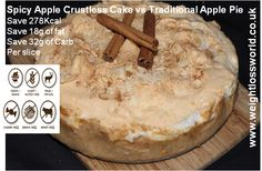Spicy Apple Crustless Cake