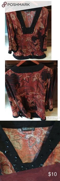 SALE Buy 1 Get 2 🆓 Beautiful tunic Neckline embellished Tops Tunics