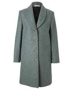 Heather green coat