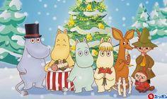 Moomins from Finland Classic Cartoon Characters, Classic Cartoons, Disney Characters, Moomin Wallpaper, Christmas Desktop Wallpaper, Tove Jansson, Moomin Valley, Chicken Crafts, Christmas Cartoons
